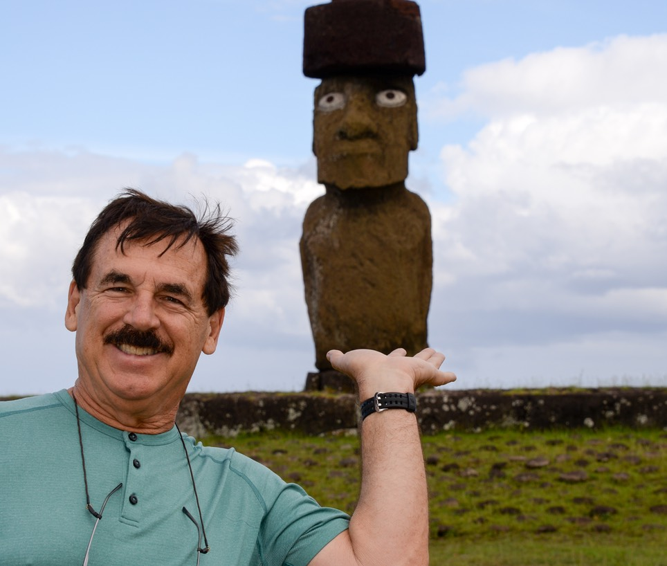 He's Got the Moai in HIs Hands